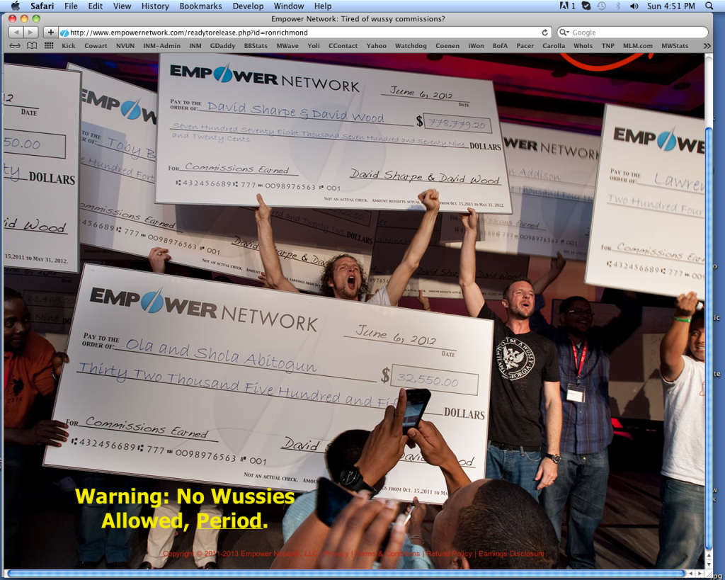 Empower Network Income Claims on Stage